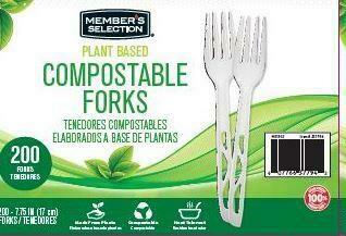 Member's Selection Plant Based Compostable Forks