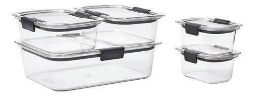 Rubbermaid Brilliance 10pc Food Storage Set