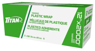 """Titan Clear Plastic Wrap 12""""x2000'"""