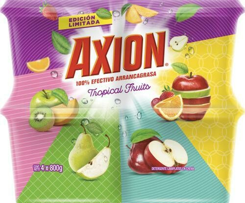 Axion Dishwasher Tropical Fruits Cream 4 units/800 g