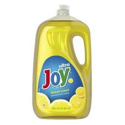 Joy Ultra Lemon Scent Dishwashing Liquid 90 oz