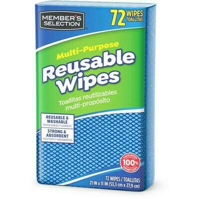 Member's Selection Multi-Purpose Reusable Wipes 72 Wipes