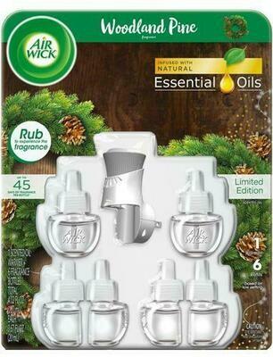 Air Wick Woodland Pine 1 Warmer + 6 Refills