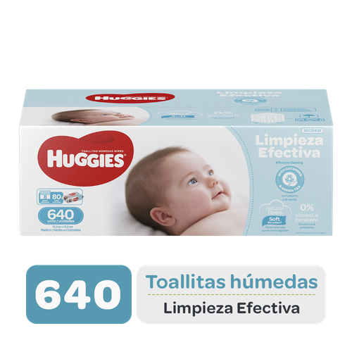 Huggies Baby Wipes Effective Cleaning, 640 units