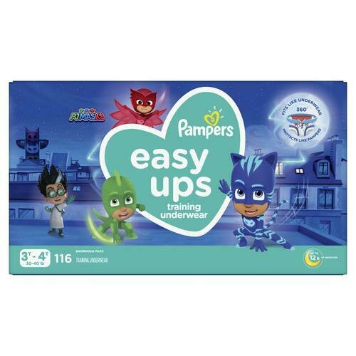 Pampers Easy Ups Boy Diapers Size 3T-4T/116 ct
