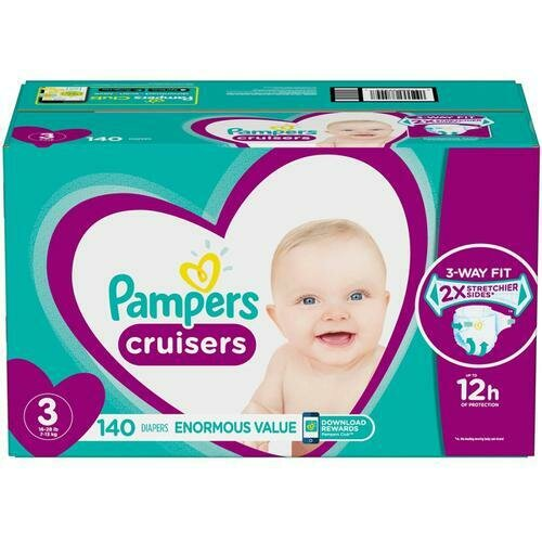 Pampers Cruisers Disposable Diapers Size Size 3 with 140 Units