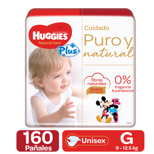 Huggies Natural Care Plus Diapers 160 Units / Size G