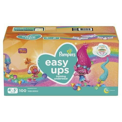 Pampers Easy Ups Girl Diapers Size 4T-5T 100ct
