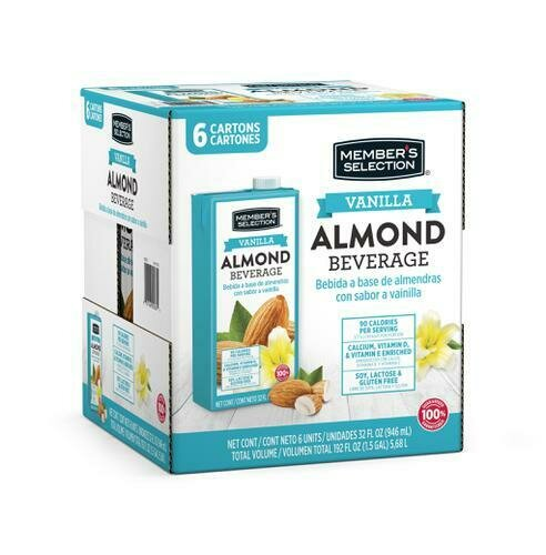Member's Selection Vanilla Almond Beverage 32 oz 6 Pack