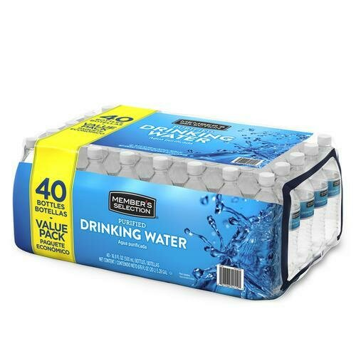 Member's Selection Purified Drinking Water 500 ml / 16.9 oz 40 Pack