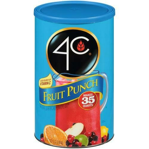 4C Fruit Punch Drink Mix 4lbs 8.5 oz
