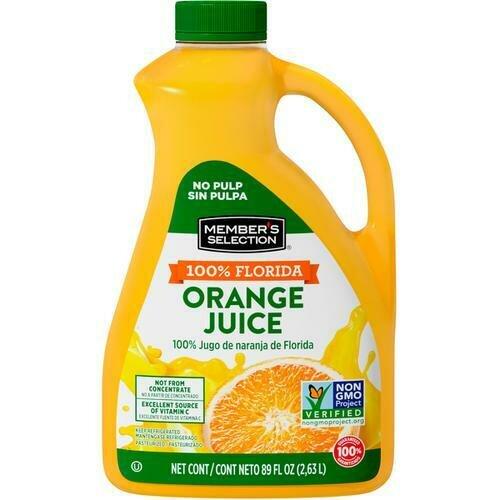 Member's Selection 100% Florida Orange Juice 2.63 L / 89 fl oz