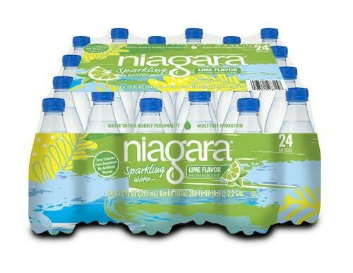 Niagra Lime Sparkling Water 24 pk/12 oz