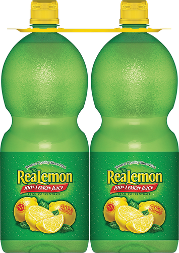 Real Lemon Lemon Juice 2 pk- 48 oz/ 1.42 lt