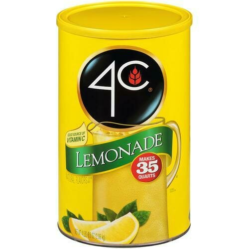 4C Lemonade Drink Mix 72.5 oz/ 2.05 kg