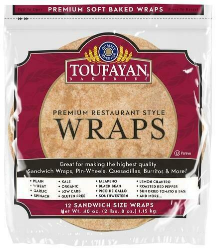 Toufayan Whole Wheat  Wrap 1.15 kg / 2.5 lb