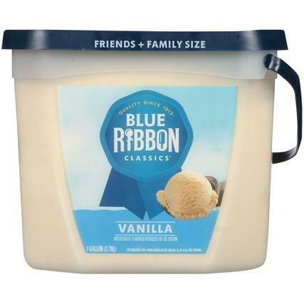 Blue Ribbon Vanilla Ice Cream 3.78 L / 1 gal