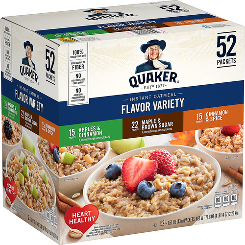 Quaker Instant Oatmeal 52 pack / 1.51 oz