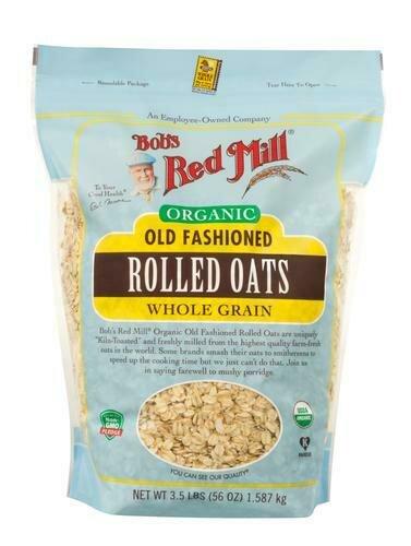 Bob's Red Mill Organic Rolled Oats 56 oz