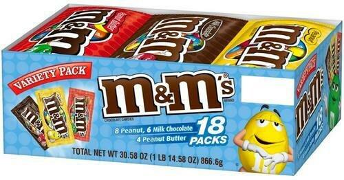 Mars M&M's Variety 18 pk