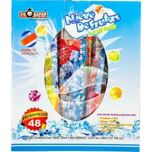 24 Siete Ice Pops Assorted 48 units /85ml /2.8 oz