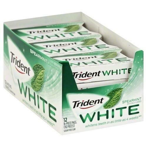 Trident White Spearmint Gum 12 pk/ 16 Pieces