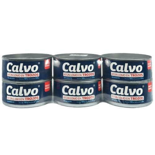 Calvo Chunk Tuna in Vegetable Oil 6 units/160 g