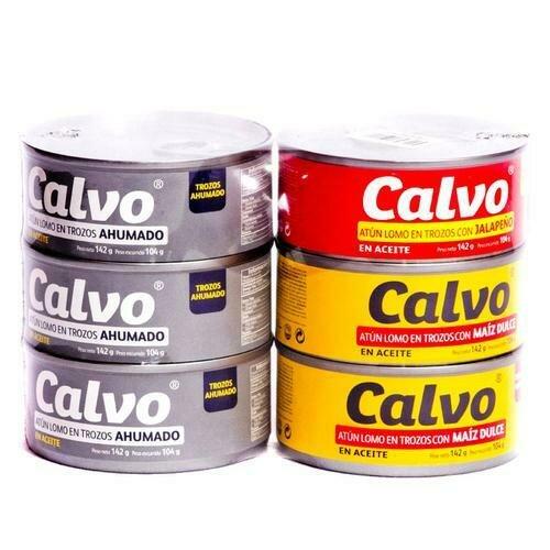 Calvo Tuna Variety 6 units / 142 g