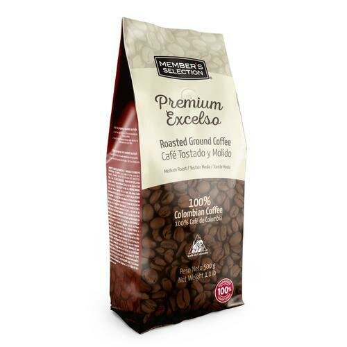 Member's Selection Premium Excelso Roasted Ground Coffee 500 g / 1.1 lb