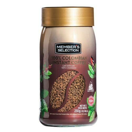 Member´s Selection 100% Colombian Instant Coffee 230 g / 0.5 lb
