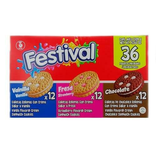 Festival Assorted Sandwich Cookies 36 Units/33.6 g/1.18 oz