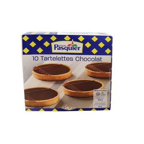 Brioche Pasquier Chocolate Tartlet, 10 units / 80 g / 2.8 oz