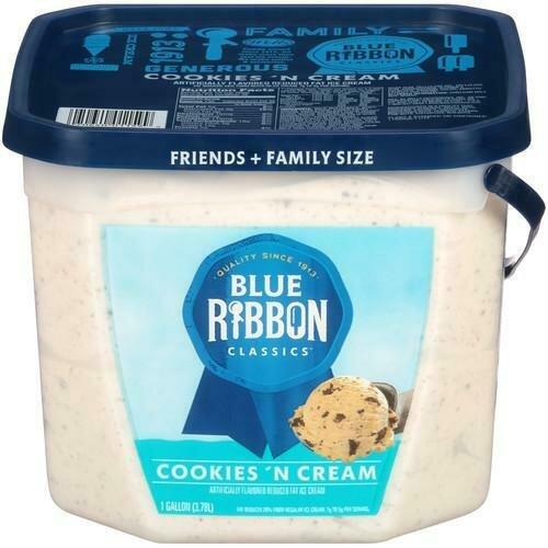 Blue Ribbon Cookies 'N Cream Ice Cream 3.78 L / 1 gal