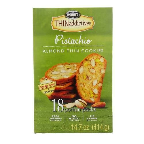 Thin Addictives Pistachio Cookies 18 Pack 0.82 oz/ 23 g