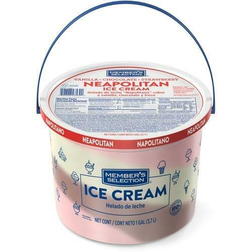 Member's Selection Neapolitan Ice Cream 3.7 L / 1 Gallon