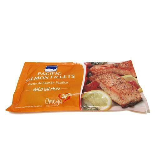 Gourmar Pacific Frozen Salmon Fillets, Bag  567 g. / 1.25 Lb.