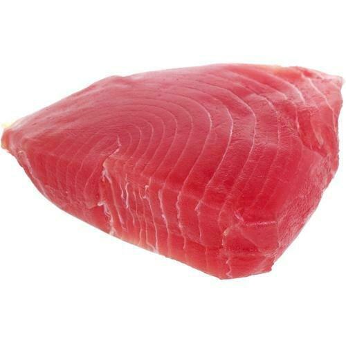 Frozen Skinless Ahi Tuna Steaks, Vacuum Packaged, Case