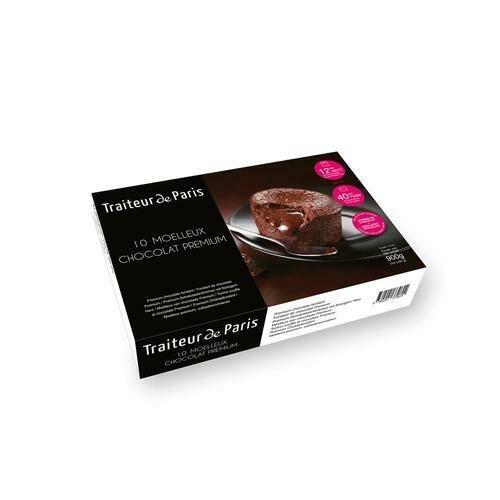 Traiteur de Paris Chocolate Cakes, 10 Units / 90 g / 3.1 oz