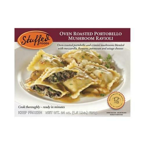 Stuffed Foods Oven Roasted Portobello Mushroom Ravioli 680 g / 1.5 lb