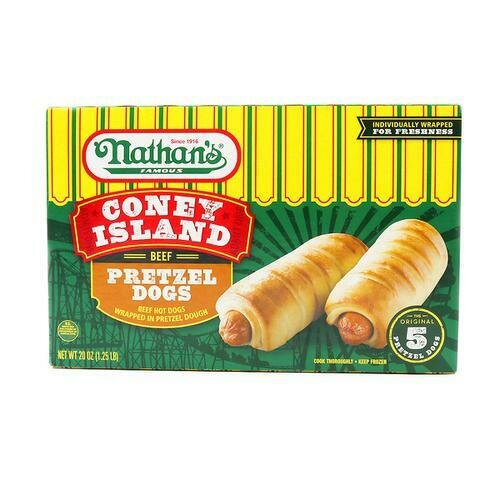 Nathan's Pretzel Dogs 5 units / 113.5 g / 4 oz