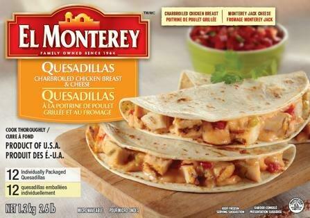 El Monterrey Chicken & Cheese Quesadillas 12ct / 99 g / 3.5 oz