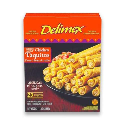 Delimex Chicken Taquito, 23 Units / 28.3 g / 1 oz