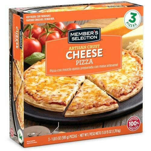 Member's Selection Artisan Crust Cheese Pizza 3 Pack