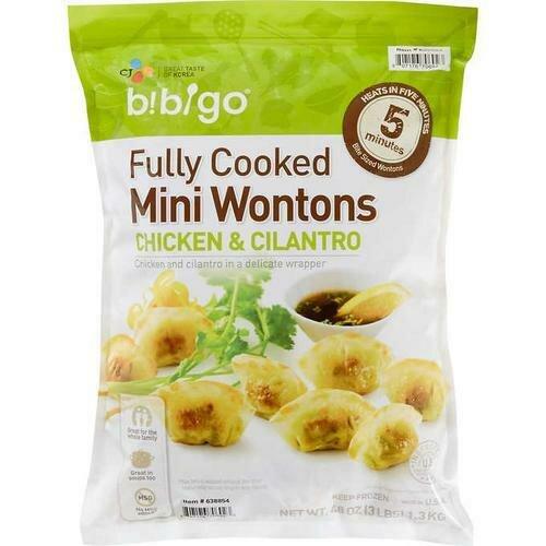 Bibigo Mini Wontons Chicken and Cilantro 1.36 kg / 3 lb