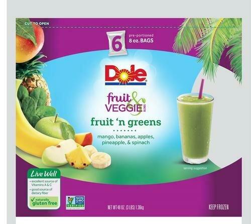 Dole Fruits & Vegetable Smoothie Blend 1.4 kg / 3 lb