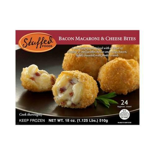 Stuffed Foods Bacon Macaroni and Cheese Bites 24 ct / 21 g / 0.75 oz