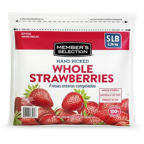 Member's Selection Hand Picked Whole Strawberries 2.26 kg / 5 lb