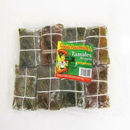 Comida Panameña  Frozen Chicken Tamales 8 units / 99 g / 3.4 oz