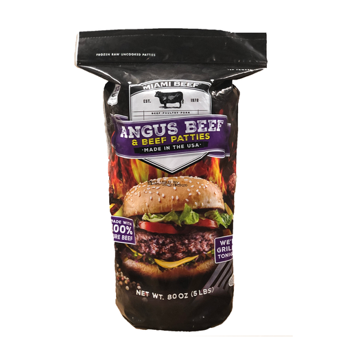 Miami Beef Angus Beef Patties 15 ct /151 g /5.3 oz