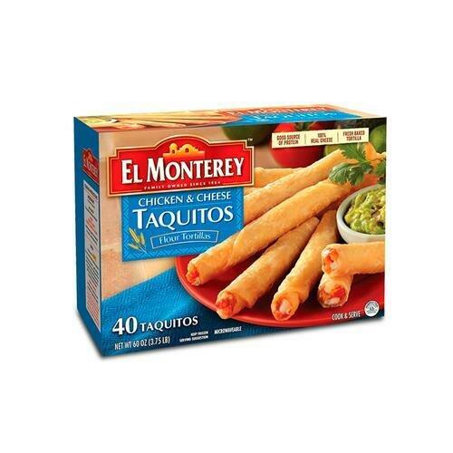 El Monterey Chicken & Cheese Taquitos 40 ct / 43 g / 1.5 oz
